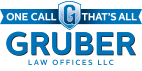 gruber law office logo on white background